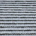photo of beautiful grey wooden roof shingles